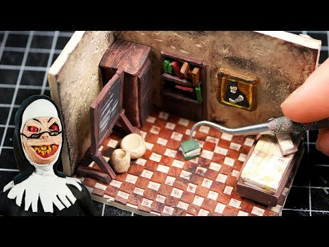 Making EVIL NUN'S Miniature School In POLYMER CLAY! (First Room)