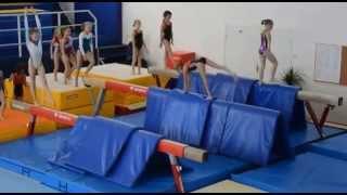 Спортивная гимнастика. Девочки. Бревно. Тренировка.