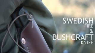 bushcraft knife how to make a swedish camp fire torch survival basic tips