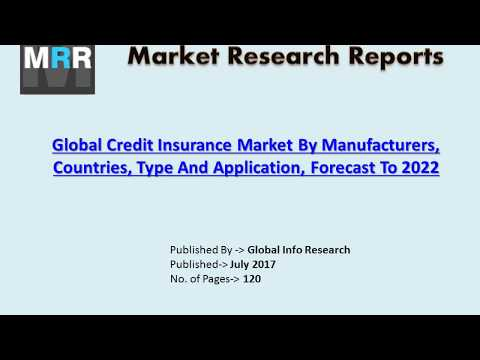 Global Credit Insurance Market Analysis 2017 by Size, Share, Growth, Trends, and Forecasts to 2022