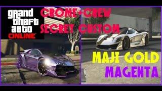 GTA5オンライン 最新シークレットクルーカラー!! GOLD MAGENTA【MONCHI】 gta5online secret custom