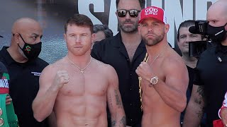 Canelo Álvarez vs. Billy Joe Saunders - FULL WEIGH IN & FINAL FACE OFF | Matchroom Boxing