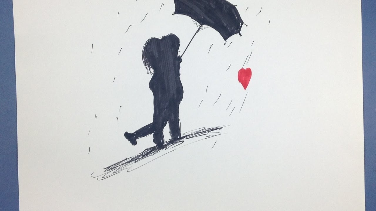 Couple Cartoon In Rain 2016 Youtube