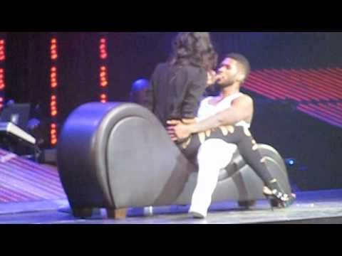 Usher Trades Places And Kisses Fan During OMG Tour Stop In Seattle