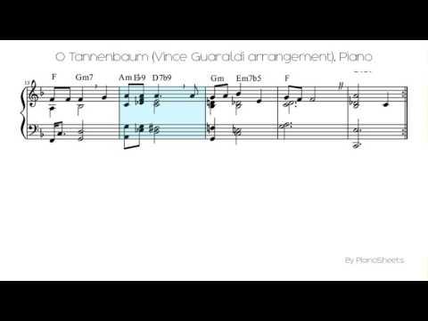 O Tannenbaum (Vince Guaraldi arrangement) [Piano Solo]