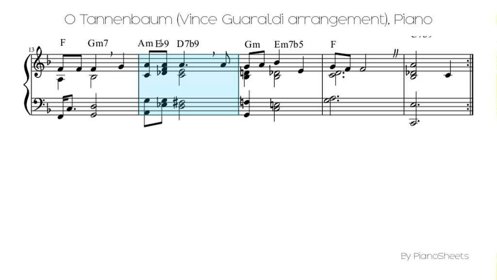 Piano linus and lucy piano sheet music : O Tannenbaum (Vince Guaraldi arrangement) [Piano Solo] - YouTube