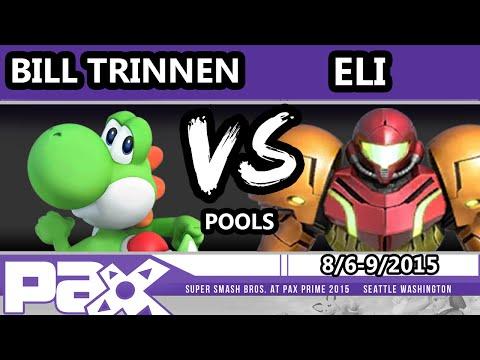 S@P - Bill Trinen (Yoshi) Vs. Eli (Samus, Zelda) SSB4 Pools - Smash Wii U - Smash 4