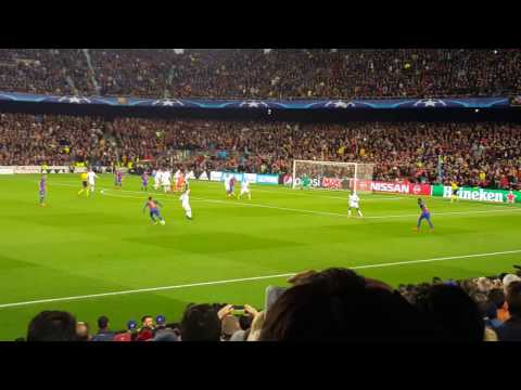 Barcelona vs PSG Champions League - Winning Gol 6 -1 and celebration at Camp Nou