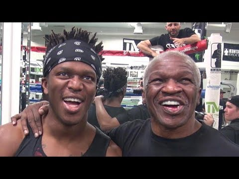 KSI asks Jeff and Floyd Mayweather for predictions on his fight with Logan Paul