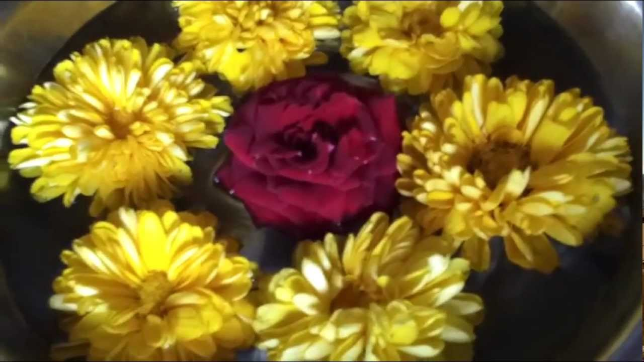 Flowers Arrangement In A Bowl Home Decoration Reference Video