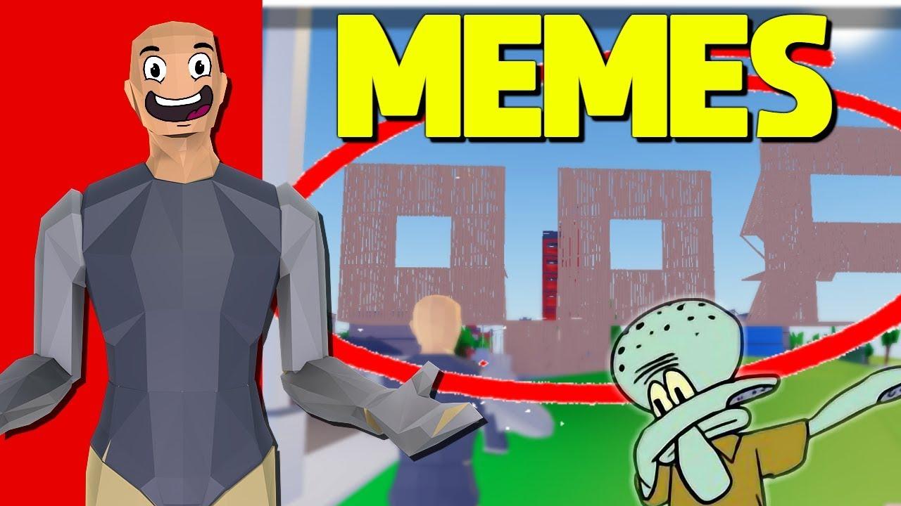 We Built MEMES In Strucid... w/ ProjectSupreme - YouTube