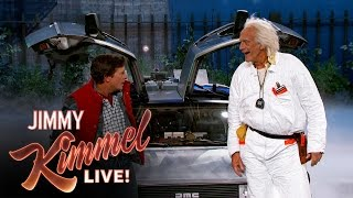 Marty McFly & Doc Brown Visit Jimmy Kimmel Live(Michael J. Fox and Christopher Lloyd reprise their iconic characters from