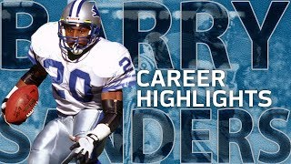 Download Barry Sanders UNREAL Career Highlights | NFL Legends Highlights Mp3 and Videos