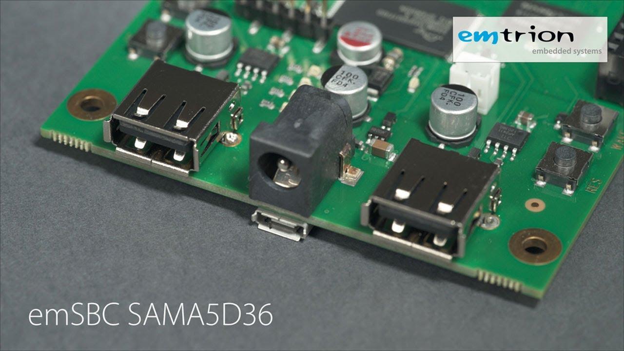 SAMA5D36 SBC mit Microchip ATSAMA5D36 - emtrion