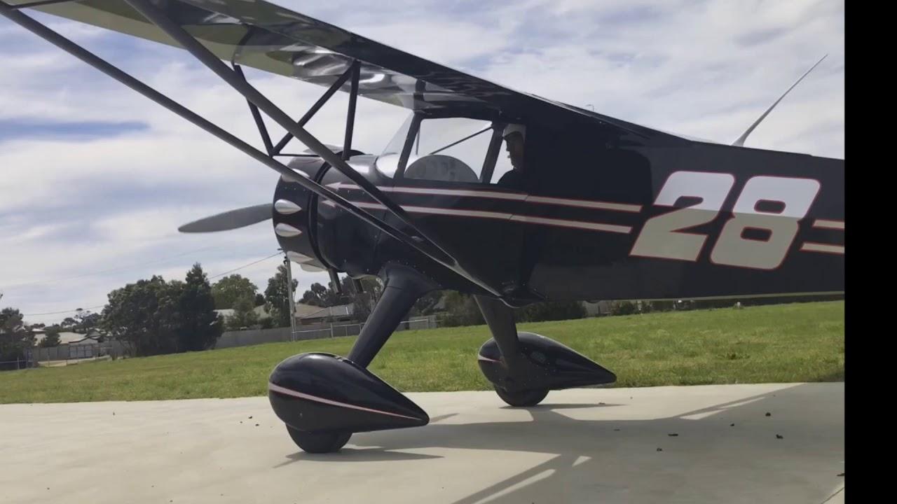 Rotec Radial Kitfox Mini coupe test flight 7th October 2017