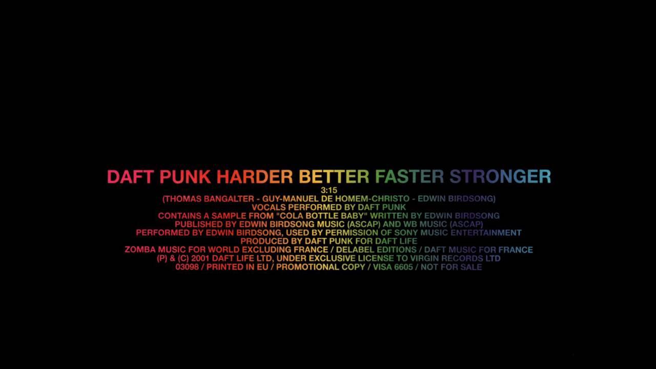 Daft Punk - Harder, Better, Faster, Stronger (Album Edit) - YouTube