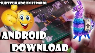 DOWNLOAD FORTNITE IN ANDROID¡REAL!! (Fortnite APK Download)