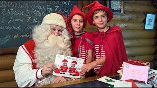Cartas a Papá Noel Santa Claus: video para los niños: Oficina de correos Laponia Finlandia Rovaniemi