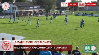 In unserem amateurspiel des monats oktober kämpften der kreisliga b marburg die direkten konkurrenten sg niederweimar-haddamshausen und tsv elnhausen um d...