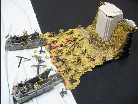 D-Day Omaha Beach Diorama - Call of Duty Mega Bloks by Goodwill Hunter
