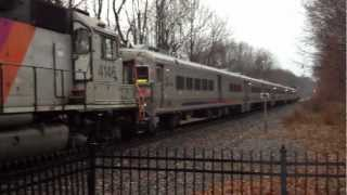 Mountain Lakes NJT 1002 arrives Mt Lakes 7:18 AM and has engine problem. Pt1