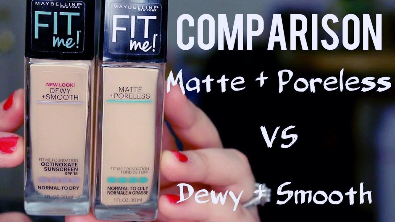 Maybelline Fit Me Foundations Dewy Smooth Vs Matte Poreless Airyrooms Foundation 30ml