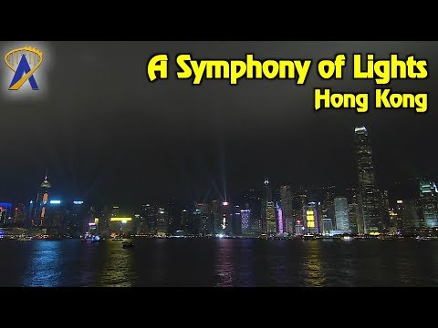 A Symphony of Lights on Victoria Harbour in Hong Kong
