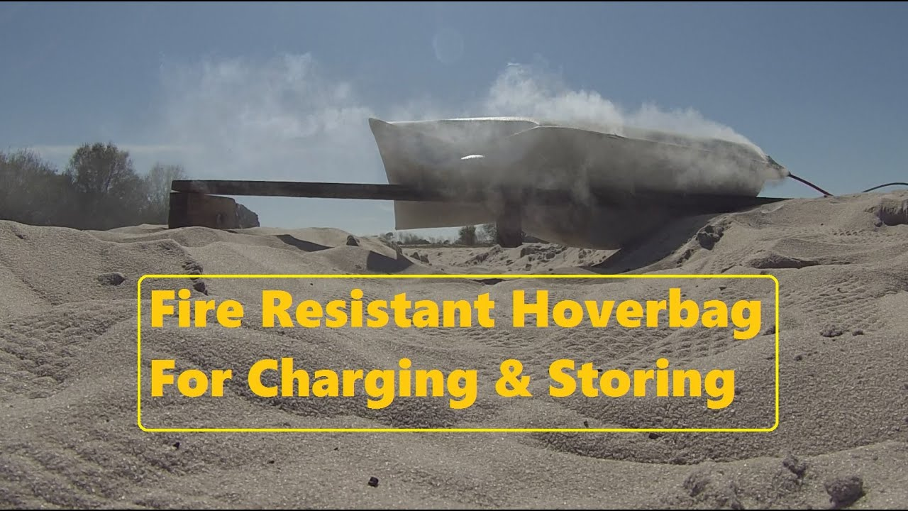 Fire Resistant Hoverbag For Charging Storing