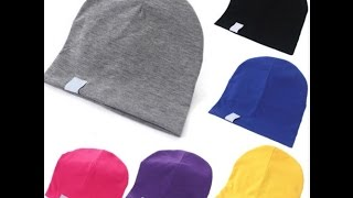 Шапочки для малышей. Cotton Kids Hats For Girls Boys