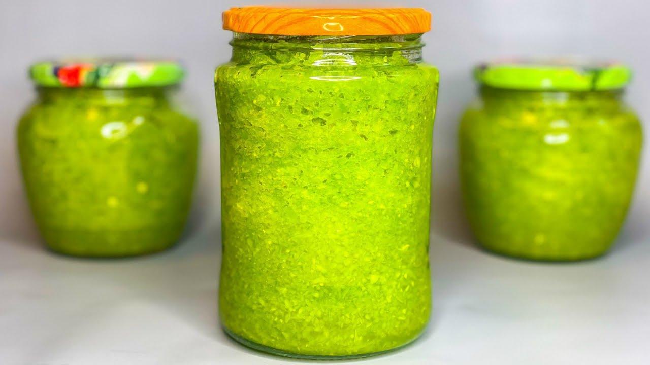 НЕ Аджика, а СОКРОВИЩЕ! Очень вкусная зелёная аджика «Изумрудная».