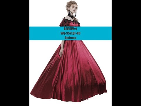 Vintage Victorian Gothic Dress – Punk Rave Australia Video Review By Andreea!