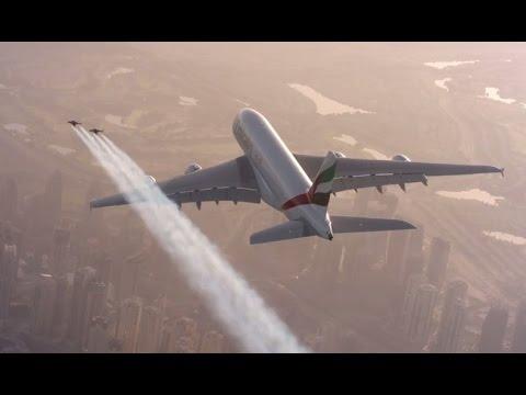 Hello Jetman Emirates Flying Together Over Dubai