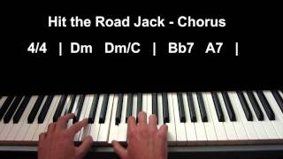How to play Hit The Road Jack on piano by Ray Charles - Blues Course - Lesson 1 - Accompaniment