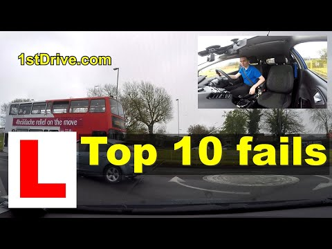 Official top 10 reasons for failing the driving test