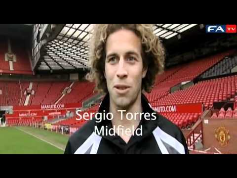 Pablo Mills and Sergio Torres on the Man U vs Crawley Town game