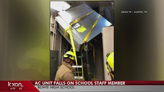 New update on Bowie staff member struck by AC unit