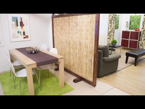 Construir un biombo o separador de ambientes bricoman a youtube - Biombos separadores de espacios ...