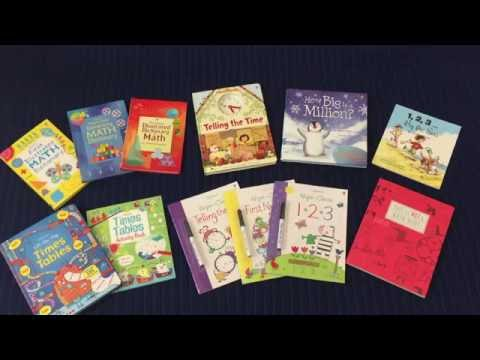 The Usborne Bookshelf - Math, Telling Time, Times Tables, Counting & Numbers Books