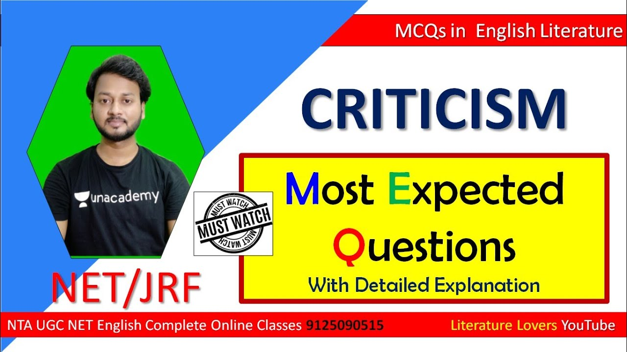 Most Expected Questions for UGC NET English 2020 Exam By AKSRajveer Literature Lovers