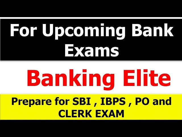 Never miss this if you are preparing for Bank Exams
