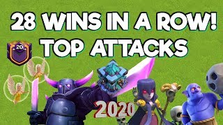 28 Wins Later.. Top Attacks! - Clash of Clans 2020
