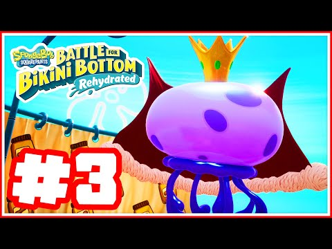 SpongeBob Squarepants: Battle For Bikini Bottom Rehydrated - Part 3 - King Jellyfish Boss Fight!