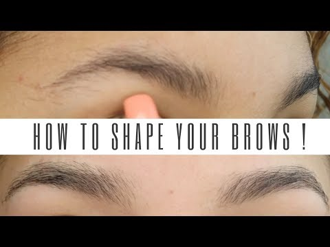 HOW TO SHAPE YOUR BROWS WITH HAIR REMOVAL ?!