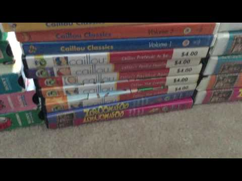 My Complete of Caillou/Bananas in Pajamas/Zoboomafoo/Richard Scary VHS/DVD Collection