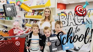 SHOP WITH ME FOR SCHOOL SUPPLIES: BACK-TO-SCHOOL SHOPPING FOR 4 KIDS! // pink after blue