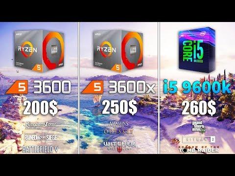 Ryzen 5 3600x vs Ryzen 5 3600 vs i5 9600k Test in 8 Games