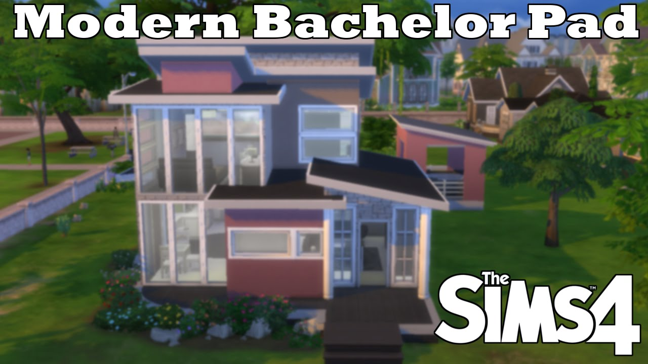 The Sims 4 Modern Bachelor Pad Collab W Megasimmer Youtube