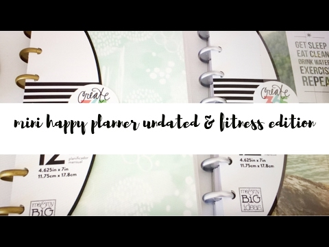 Mini Happy Planner Undated & Fitness Edition (Review & Flip Through)