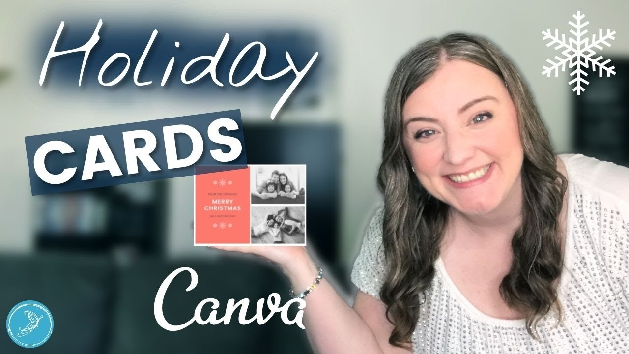 How to make a HOLIDAY CARD in CANVA for 2020 | DIY Christmas card tutorial + printing resources