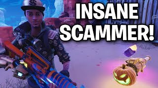 Insane Lunatic Scammer m'arnaque presque! 😭😧 (Scammer Get Scammed) Fortnite Save The World
